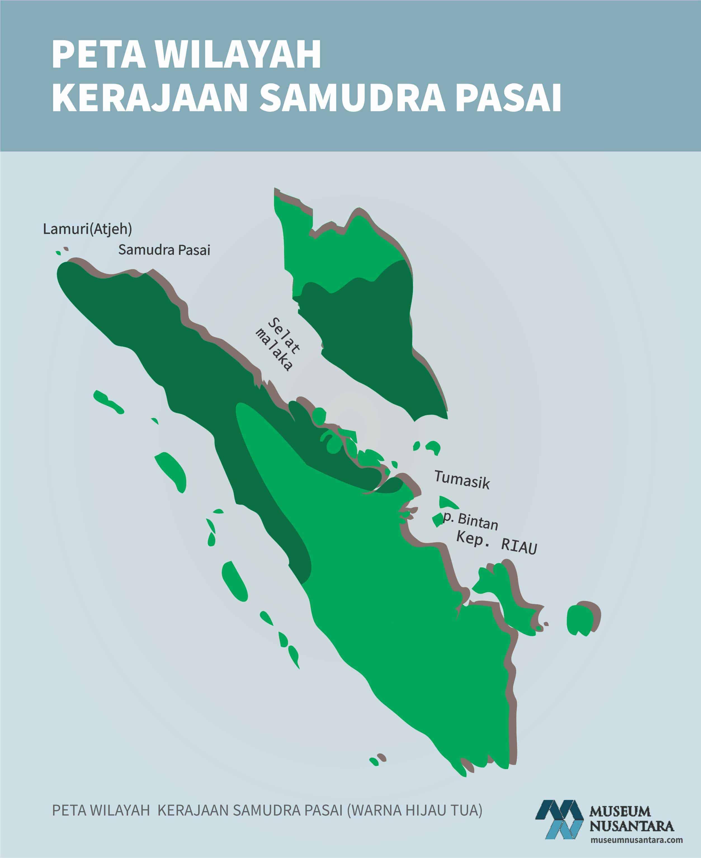 Peta Wilayah Kekuasaan Kerajaan Samudra Pasai