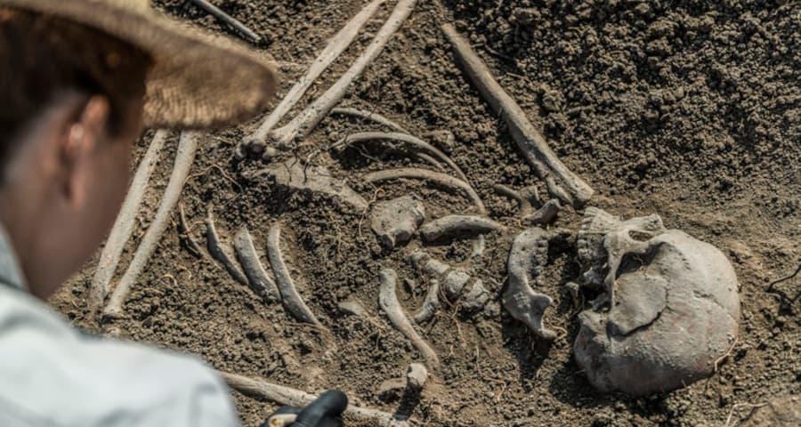 Penemuan fosil Pithecanthropus Erectus oleh arkeolog